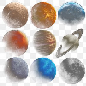 Nine Planets - Moon Planet Universe PNG