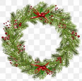 Christmas Wreath Clip Art Image - Wreath Christmas Clip Art PNG