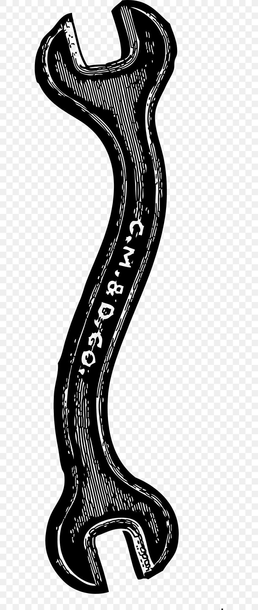 Hand Tool Spanners Adjustable Spanner Clip Art, PNG, 600x1939px, Hand Tool, Adjustable Spanner, Art, Black And White, Monkey Wrench Download Free