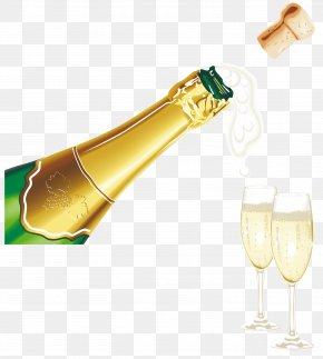 Champagne Popping - Champagne Liqueur Party PNG