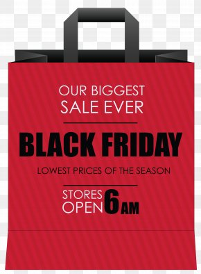 Black Friday Red Shoping Bag Clipart Image - Image File Formats Lossless Compression PNG
