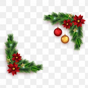 Vector Christmas Border - Download PNG