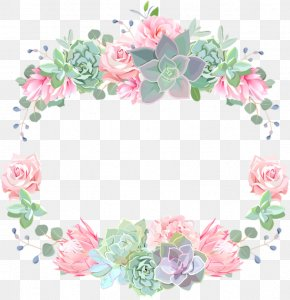 Picture Frame Rose Order - Watercolor Background Frame PNG
