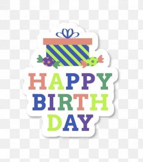Happy,birthday Stickers Birthday - Birthday Cake Paper Sticker Fathers Day PNG