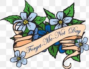 Scorpion Grasses Floral Design Day Clip Art PNG