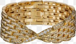 Cartier Gold Diamond Bracelet Seven Rows - Bangle Bracelet Gold Diamond Cartier PNG