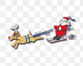 Santa Sleigh Ride - Santa Claus Reindeer Sled Christmas PNG