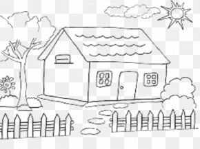 House - House Drawing Coloring Book Child PNG