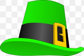 Hat - Leprechaun Hat Saint Patrick's Day Clip Art PNG