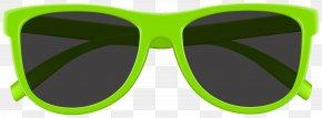 Green Sunglasses Clip Art Image - Goggles Sunglasses Green Clip Art PNG