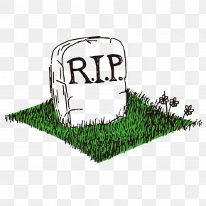 Vector Image Of The Grave - Grave Headstone Cemetery Clip Art PNG