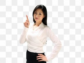 Click On The Appearance Of The Finger Direction Beauty Material - White-collar Worker Job Salaryman PNG
