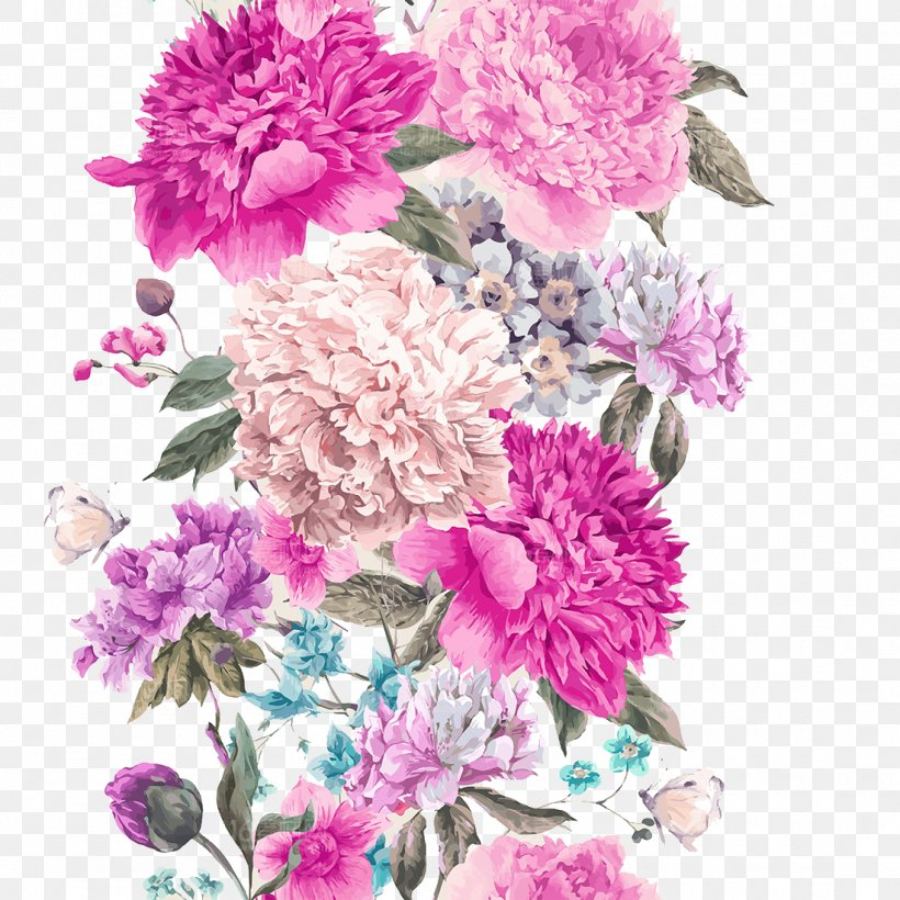 Flower Watercolor Painting Stock Illustration Illustration, PNG, 1100x1100px, Flower, Artificial Flower, Chrysanths, Cut Flowers, Floral Design Download Free