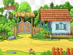 Biome Adventure Game - Natural Landscape Property House Cartoon Grass PNG