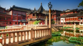 China - Yu Garden Summer Palace Shanghai Hotel Desktop Wallpaper PNG