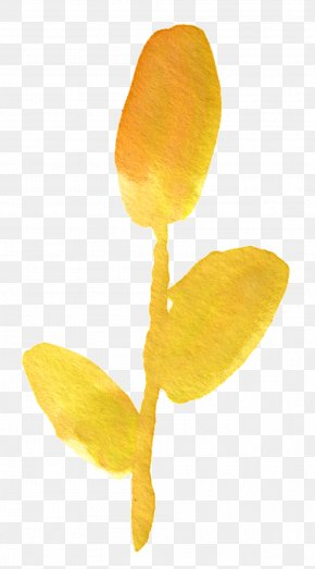 Yellow Watercolor Flower - Flower Watercolor Painting Floral Design Clip Art PNG
