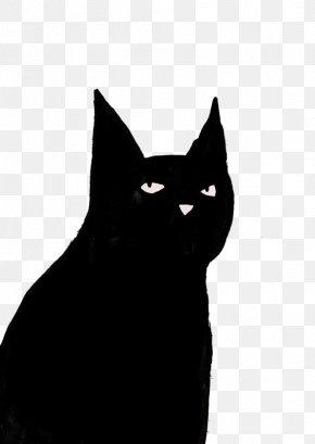 Black Cat - Bombay Cat Black Cat Domestic Short-haired Cat Kitten Whiskers PNG