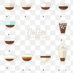 Vector Coffee Menu - Irish Coffee Cappuccino Tea Latte PNG