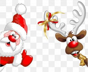 Santa Claus - Santa Claus Rudolph Reindeer Clip Art PNG