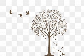 Cartoon Creative Wall Painting - Paper Wall Decal Tree Sticker PNG