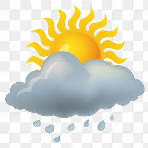 Shower Weather Icon Material - Weather Forecasting Rain Icon PNG