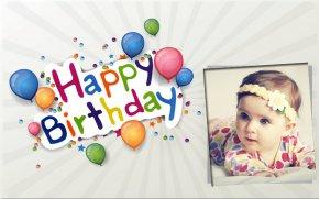 Birthday Frames - Birthday Cake ABCD 2 Happy Birthday To You Wish PNG