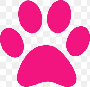 Panther Paw Print - Dog Cat Paw Clip Art PNG