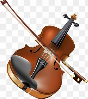 Violin And Bow - Violin Musical Instrument Clip Art PNG