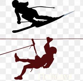 Ski - Climbing Mountaineering Clip Art PNG