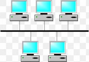 Computer Network Diagram - Bus Network Network Topology Computer Network Diagram PNG