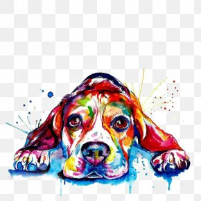 Watercolor Puppy - Beagle French Bulldog Golden Retriever Printing PNG