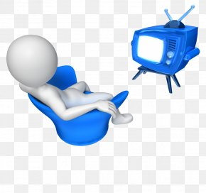 Watching Tv - Television Channel Presentation PowerPoint Animation Clip Art PNG