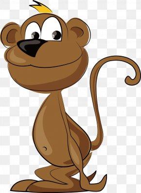 Monkey Vector - Monkey Cartoon Clip Art PNG