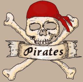 Pirate - Skull & Bones Piracy Jolly Roger Skull And Crossbones PNG