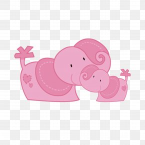 Cartoon Baby Elephant - Cartoon Elephant Illustration PNG