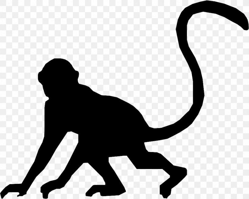 Cat Silhouette Monkey Clip Art, PNG, 951x763px, Cat, Black, Black And White, Carnivoran, Cat Like Mammal Download Free