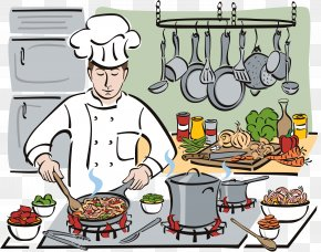 Cooking Pan - Chef Cooking Cartoon Clip Art PNG