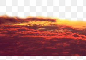Inky Clouds Filled The Sky - Sky Afterglow Cloud Iridescence Sunset PNG