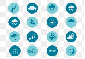 Blue Moon Rainy Weather - Weather Icon Design Icon PNG