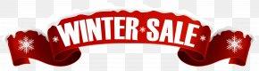 Winter Sale Banner Transparent Clip Art Image - Sales Banner Clip Art PNG