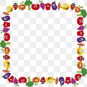 Vegetable - Clip Art Borders And Frames Vegetable Openclipart Fruit PNG