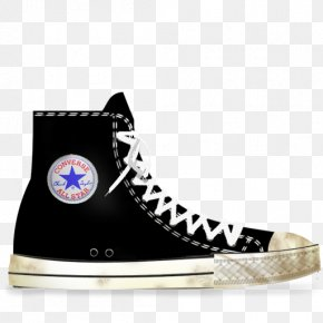 Black Lightning - Converse Chuck Taylor All-Stars Shoe Sneakers Footwear PNG