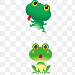 Cartoon Frog - Red-eyed Tree Frog Cartoon Clip Art PNG