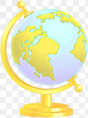 Map Interior Design - Globe Yellow World Clip Art Interior Design PNG