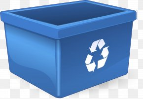 Household Supply Recycling - Blue Recycling Bin Waste Containment Waste Container Plastic PNG