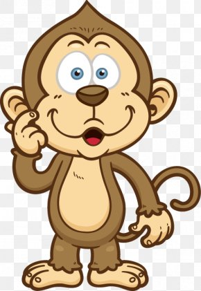Hand-painted Cartoon Monkey Pattern - Cartoon Monkey Clip Art PNG
