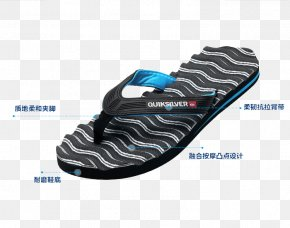 Quiksilver Wave Pattern Wear Sandals - Slipper Flip-flops Quiksilver Sandal Pattern PNG