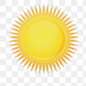 Vector Yellow Shiny Sunshine PNG