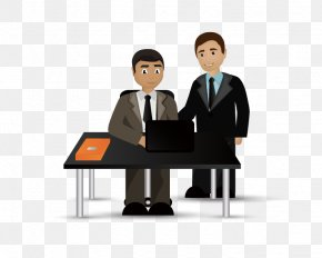 Office Business People - Business Cartoon Illustration PNG