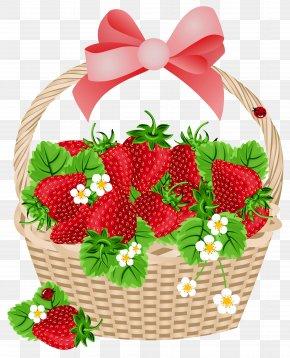 Basket With Strawberries Transparent Clipart - Strawberry Basket Fruit Clip Art PNG